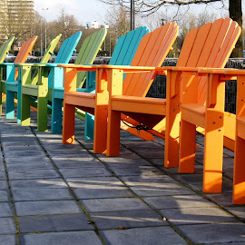 Colored chairs by Anita Berghoef - Artistic Objects Furniture ( orange, chair, blue, chairs, green, colored, furniture )