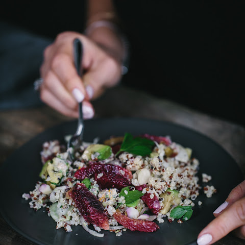 Quinoa and Avocado Salad with Blood Oranges and Fennel