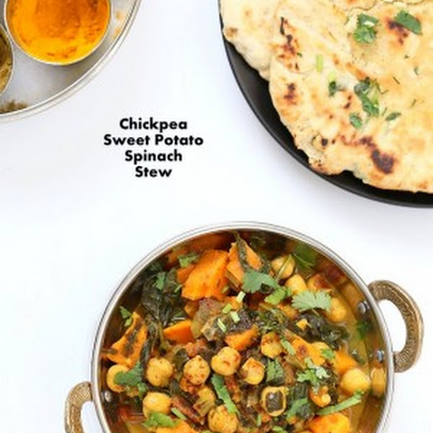 Chickpea Sweet Potato Spinach Curry