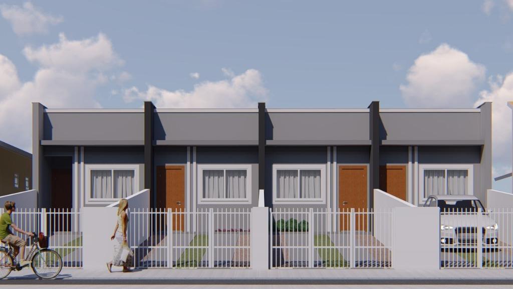 Casa com 2 dormitórios à venda, 54 m² por R$ 169.000 - Nova Brasília - Joinville/SC