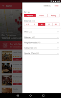 Screenshot of OpenTable: Restaurants Near Me