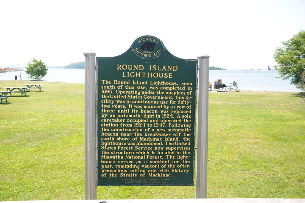 The Round Island Lighthouse, seen south of this site, was completed in 1895. Operating under the auspices of the United States government, this facility was in continuous use for fifty-two years. It ...