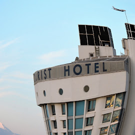 A Crazy Hotel. by Marcel Cintalan - Buildings & Architecture Office Buildings & Hotels ( dancing, flying, mountains, plane, crazy, hotel,  )