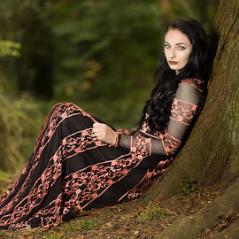 Kiya by Brian Pierce - People Portraits of Women ( model, kiya, autumn, bodmin,  )