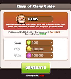 Free Gems Guide for Coc Game - screenshot
