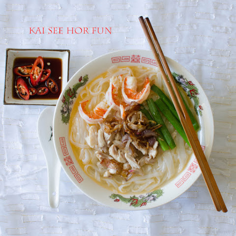 Kai See Hor Fun (Noodle Soup with Shredded Chicken)