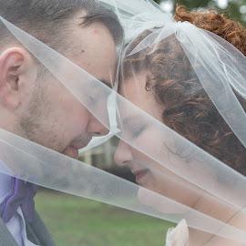 Tender Moment by Debbie Slocum Lockwood - Wedding Bride & Groom