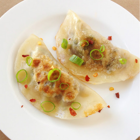 Vegan Potstickers with Shiitakes, Cabbage and Scallions