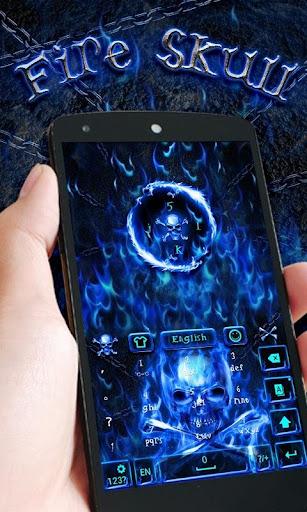 FireSkull GO Keyboard Theme screenshot 5