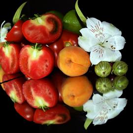 fruits with flower by LADOCKi Elvira - Food & Drink Fruits & Vegetables