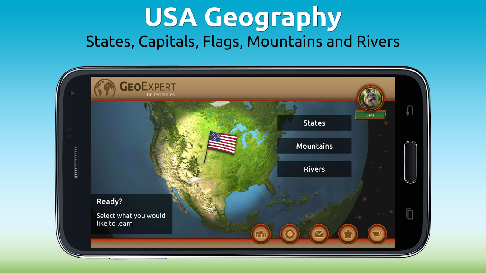 GeoExpert - USA Geography Screenshot