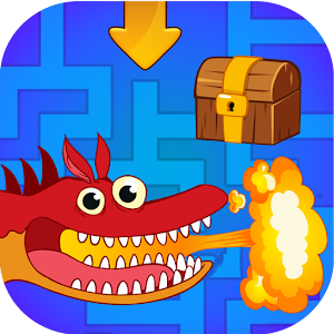 Maze game for kids free. Labyrinth with Dragons! for PC-Windows 7,8,10 and Mac