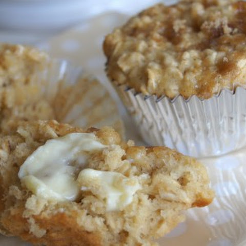 Brown Sugar Oatmeal Muffins