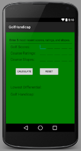 Golf Handicap - screenshot