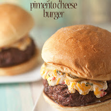 Pimento Cheeseburger with Fried Jalapenos