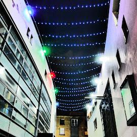 Street by Jimmy Fitz - City,  Street & Park  Street Scenes ( colour, street, night, street scene, city, street photography )