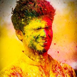 by Biswajit Mukherjee - Public Holidays Valentines Day ( joyful, red, kolkata, colors, yellow, holi )