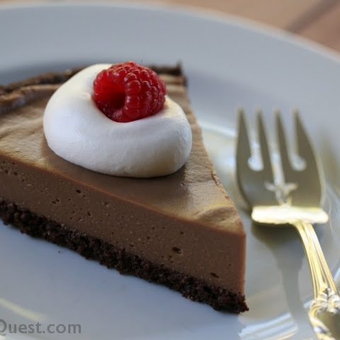 Low-Fat Chocolate Cookie Pie Crust (Gluten Free, Vegan)