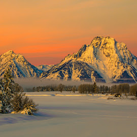 Sunrise at Oxbow by Jeff Pedersen - Landscapes Mountains & Hills