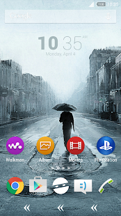 For Xperia Theme Rain - screenshot