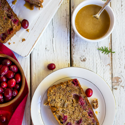 Gluten Free Banana Cranberry Honey Bread