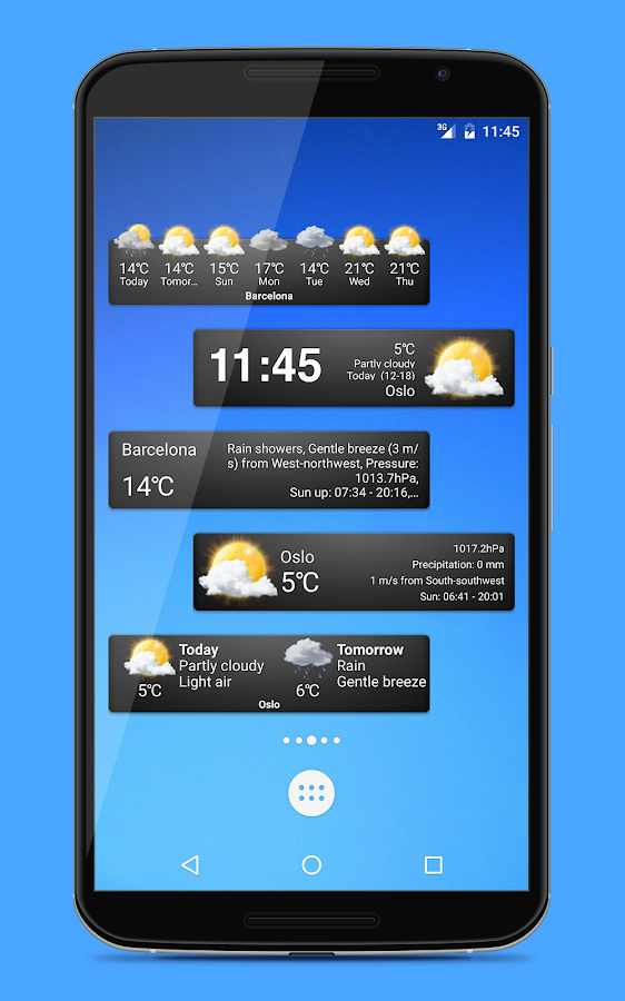 Weather widgets Screenshot 0