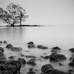 Out of place by Tan  Kian Yong - Landscapes Waterscapes ( loneliness, waterscape, isolation, melaka, malaysia, landscape, alone )