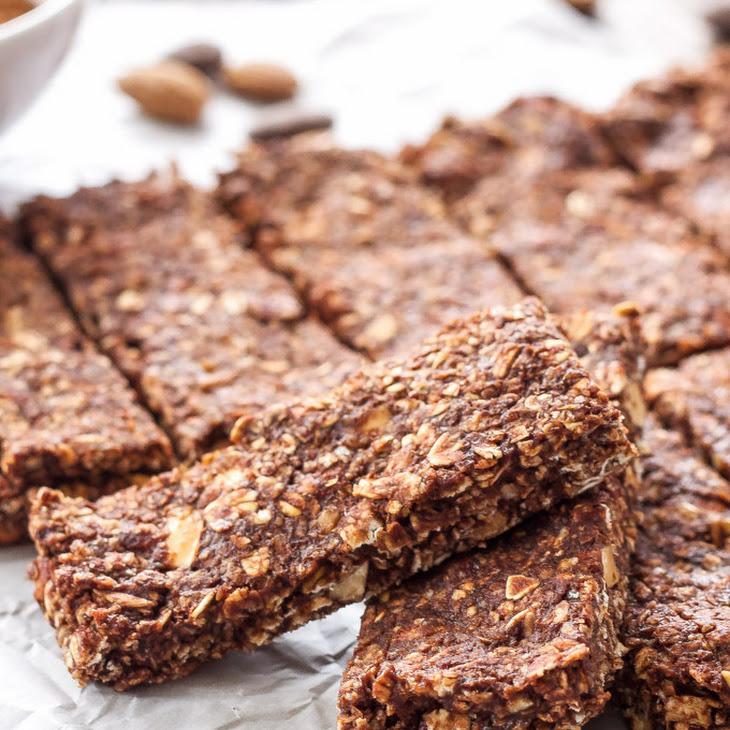 Chocolate Almond Granola Bars Recipe | Yummly