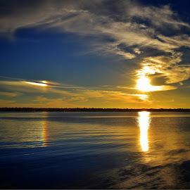 The Sundog by Mark Ayers-Stebenne - Landscapes Sunsets & Sunrises ( reflection, waterscape, florida, sunset, skyporn, sundog, nature photography, refraction,  )