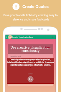Creative Visualization Deck - screenshot