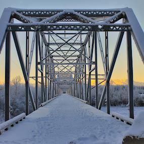 Old Knik Bridge by Patricia Phillips - Buildings & Architecture Bridges & Suspended Structures ( bridges old knik )