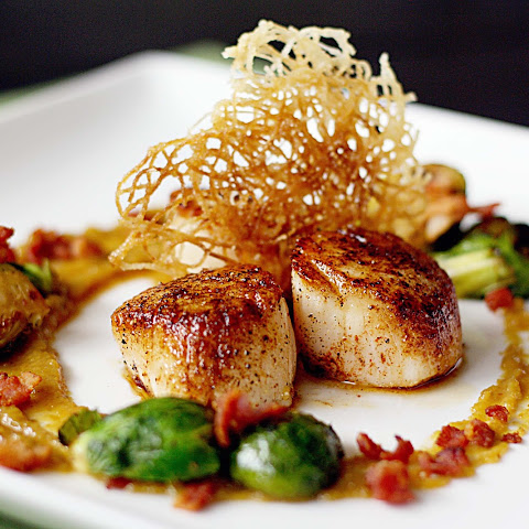 Scallops With Rice Noodles Recipes