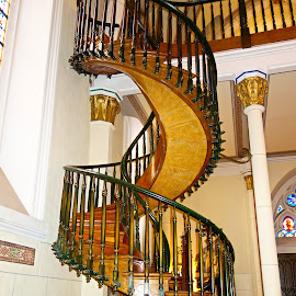 Loretto Chapel Staircase  by Robert Meyers-Lussier - Buildings & Architecture Architectural Detail ( spring, loretto chapel )