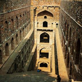 Agrasen Ki Baoli by Vyom Saxena - Buildings & Architecture Public & Historical ( agrasen ki baoli, monuments of delhi, baoli, architectures of india, delhi )