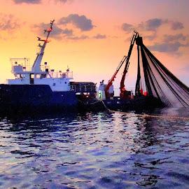 Fishing boat by Tihomir Beller - Transportation Boats