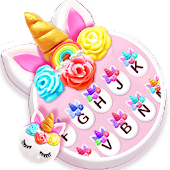 Flower Sweetie Unicorn Keyboard Theme