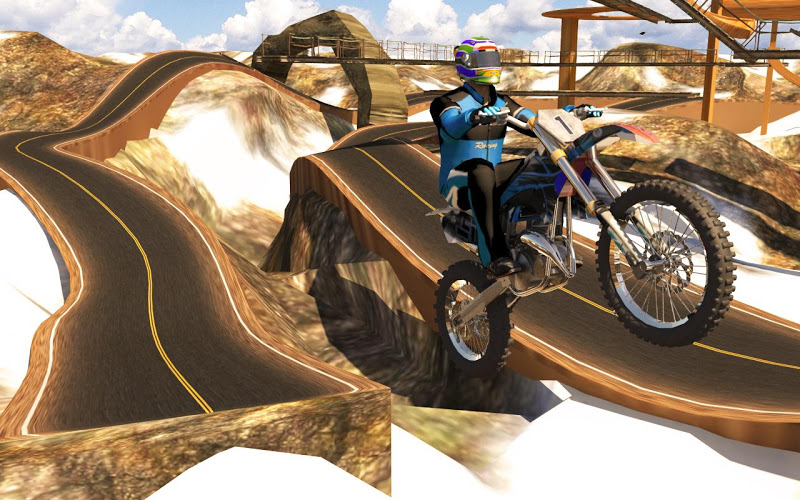 Racing on Bike Free Android App Screenshot