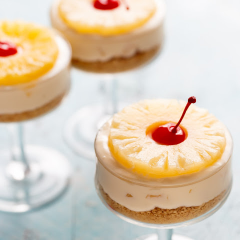 No Bake Pineapple Cheesecakes