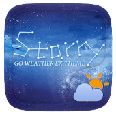 Starry GO Weather Widget Theme