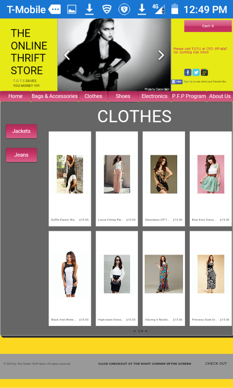 The Online Thrift Store Screenshot 2