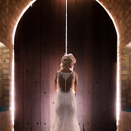 The Door by Lodewyk W Goosen (LWG Photo) - Wedding Bride ( doors, wedding photography, wedding photographers, wedding day, weddings, wedding, brides, wedding dress, wedding photographer, bride, light )