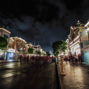 Main Street by Jerome Obille - City,  Street & Park  Street Scenes ( hdr, nightshot, markets, street, evening, people, nightscape )
