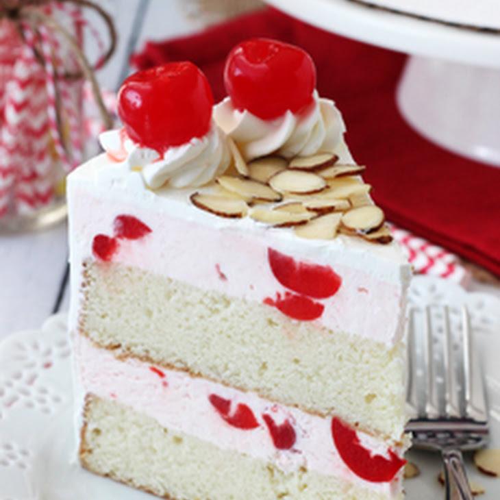 Cherry Almond Coffee Cake Sour Cream