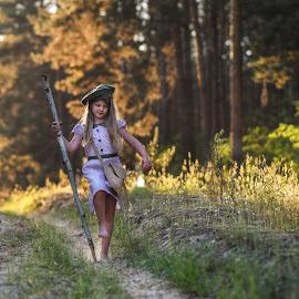 Walking by Piotr Owczarzak - Babies & Children Children Candids ( forest, children, poland, girl, kids )