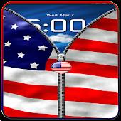 US Flag Zipper Lock Free APK for Bluestacks