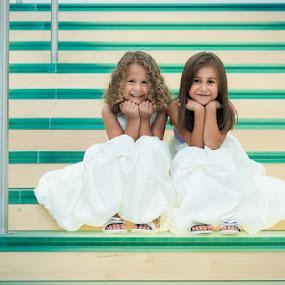 Sisters by Ashley Rodriguez - Babies & Children Child Portraits