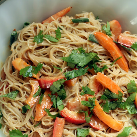 Peanut Butter Rice Noodles Salad