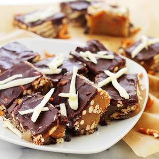 Pretzel Caramel Chocolate Candy Bars