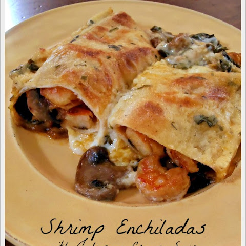 Shrimp Enchiladas with Jalapeno Cream Sauce