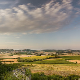 Landscape with its Photographer by Jiri Cetkovsky - Landscapes Travel ( clouds, drasenhofen, mikulov, landscape, fields )